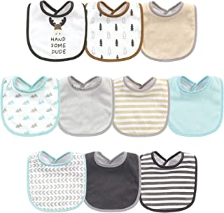 Hudson Baby Unisex Cotton and Polyester Bibs