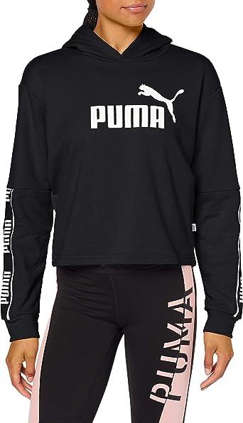 PUMA Amplified Cropped Hoodie - Womens - Black -