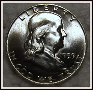 1959 D Franklin Half Brilliant Uncirculated 90% Silver US Coin MS/BU Fifty Cents .50 Half Choice Brilliant Uncirculated