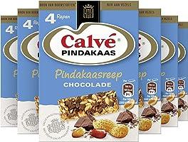 Calvé Chocolade Snackreep, vezelrijke snackreep voor tussendoor - 6 x 4 repen - Voordeelverpakking