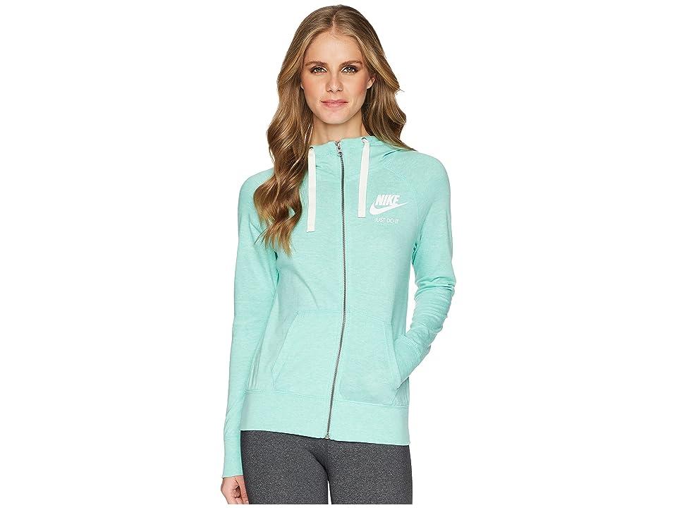Nike Gym Vintage Full Zip Hoodie (Emerald Rise/Sail) Women