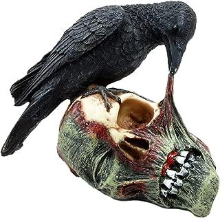 Ebros T Virus Infected Raven Crow Feeding on Zombie Flesh Decorative Figurine 4.25