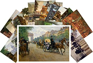 Postcard Set 24 cards Belle Epoque Town Life Victorian Vintage Painting by Jean Beraud