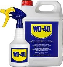 WD-40 Producto Multi-Uso- Garrafa 5L y pulverizador - Lubrica, Afloja, Protege del óxido, Dieléctrico, Limpia metales y pl...