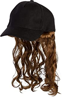 Trucker Hat with Mullet - Costume Accessory