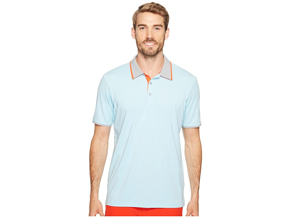 adidas Golf Climacool Performance Polo (Icey Blue) Men