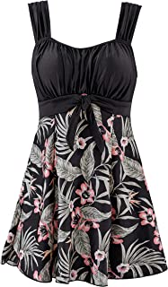 Women's Swimdress Skirted Swimsuit One-Piece Cover Up Plus Size