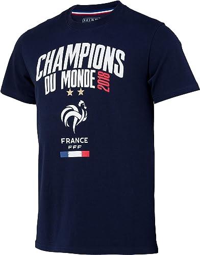 Equipe de FRANCE de football T-Shirt FFF - Champion du Monde 2018 - Collection Officielle Taille Enfant