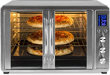 Best Choice Products 55L 1800W Extra Large Countertop Turbo Convection Toaster Oven w/French Doors, Digital Display, Timer, S