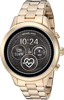 Michael Kors Women's MKT5045 Michael Kors Runway Gold-Tone Smartwatch, Gold, Large