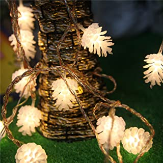 IDS 16ft/5m 20 LED Warm White Fairy Pinecones String Lights for Christmas Party Home Wedding Holiday Decoration