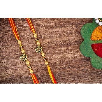 Elephant 2 Set of 2 Designer Rakhi Bracelet for Brother on Rakshabandhan Traditional with Plastic Free Packaging