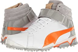 Puma White/Vibrant Orange/Drizzle