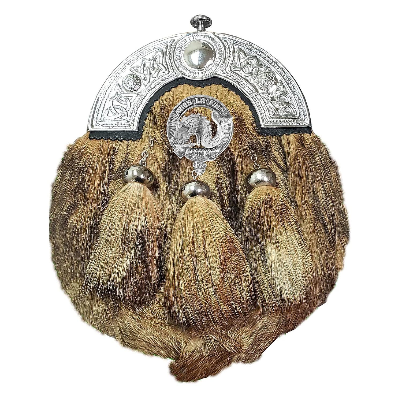 Kennedy Daily bargain sale Scottish OFFicial Clan Crest Sporran Fur Badge Dress