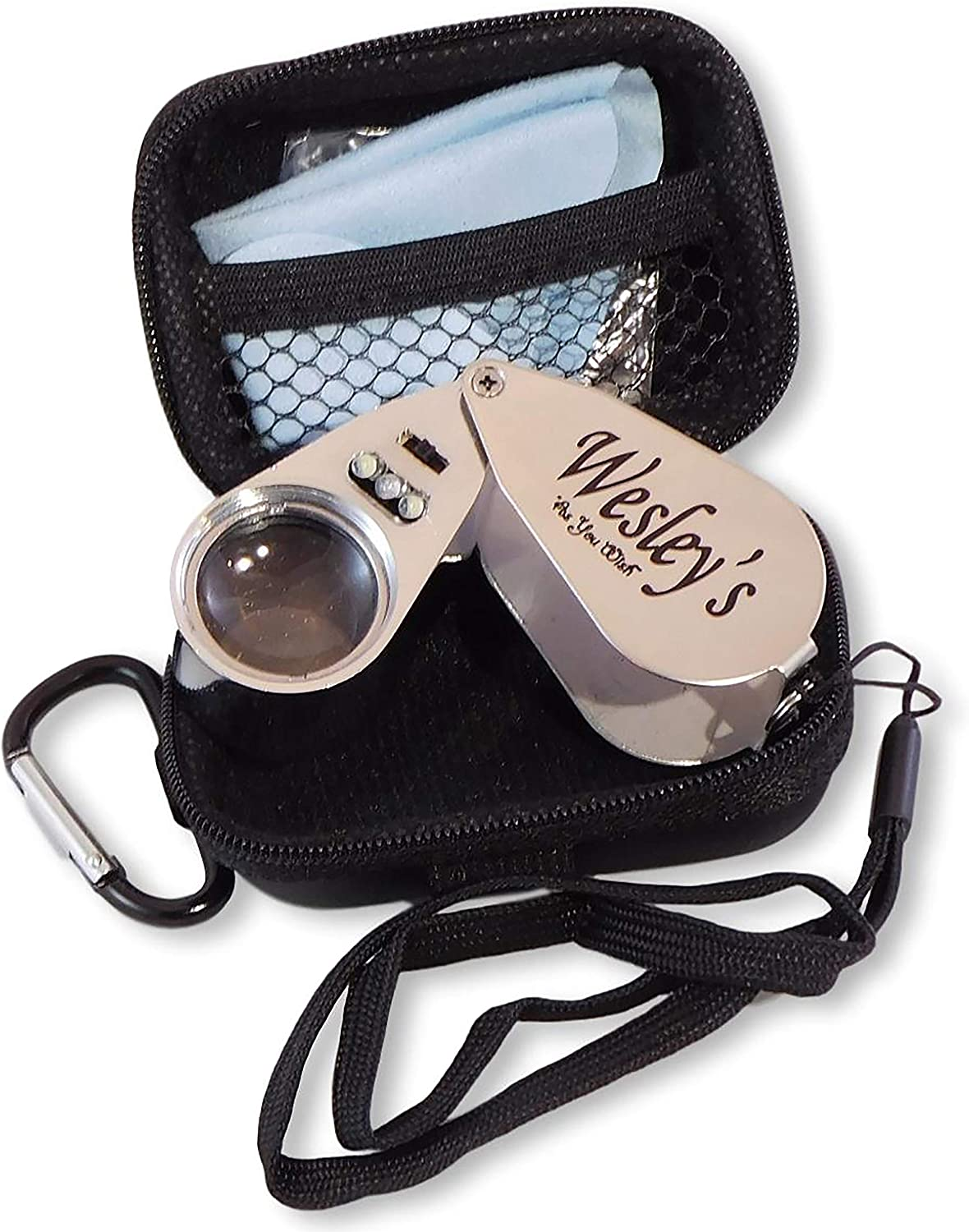 40X Jewelers Loupe Magnifier Hand Illuminated UV Lens LED A OFFicial mail order surprise price is realized Jewelr