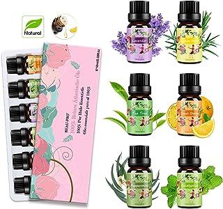 Aceites Esenciales para Humidificador Aceite Esencial 100% Naturales Puro Aromaterapia Esencias para Humidificador-6x10ml ...