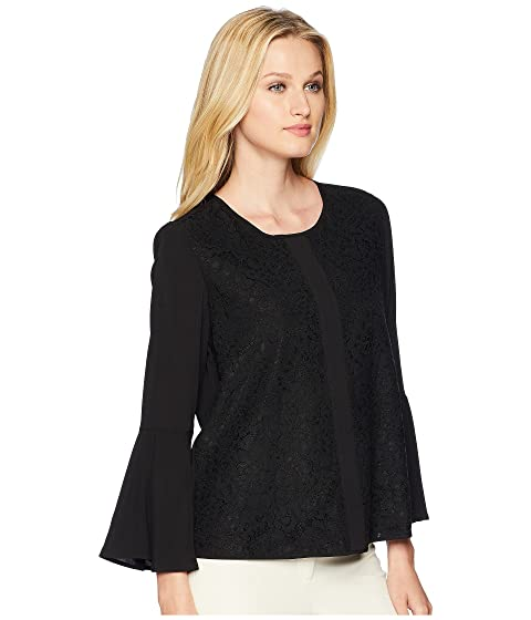 Sleeve Front Klein Blouse Lace Bell Calvin TzHqn