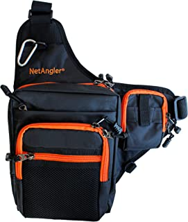 NetAngler Sports Shoulder Bag, Fishing Pack Water-Resistant Sling Bag Ideal for Climbing Hiking Cycling Traveling