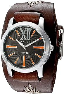 [ネメシス] Nemesis 腕時計 Women's 'Roman Series' Quartz Stainless Steel and Leather Automatic Watch, Color:Brown 日本製クォーツ BBF065KN レディース 【並行輸入品】