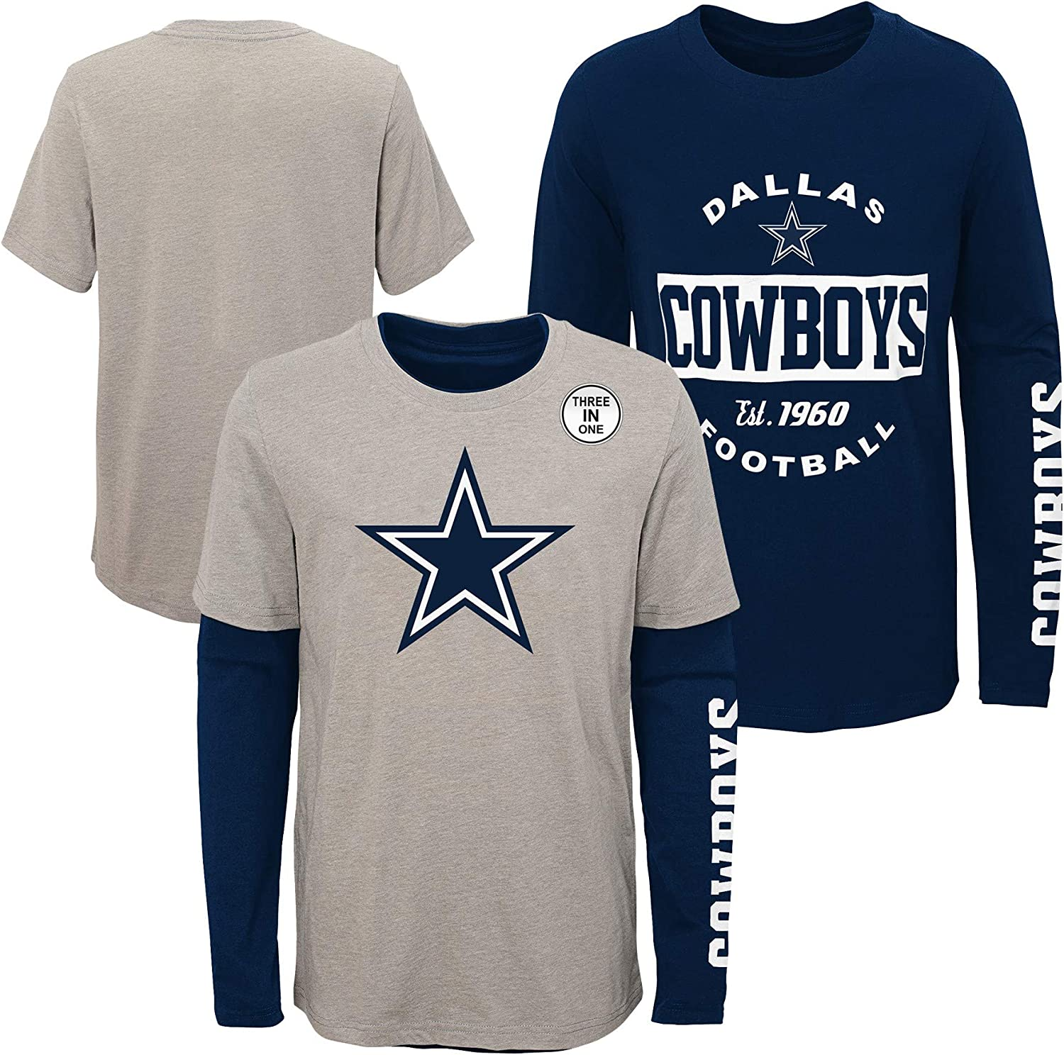 Dallas Cowboys Boys Goal Line Stated Kids 3-in-1 T-Shirt