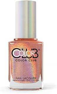 Color Club Halographic Hues Nail Polish, Peach, Cosmic Fate.05 Ounce