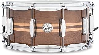 "Gretsch Drums Full Range Series S1-6514W-MI 14x6. 5"" Gloss Walnut Snare W/Maple Inlay"