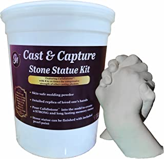 Grape Arts Memory Keepsake Hands Statue Kit Molding Powder and Casting Plaster
