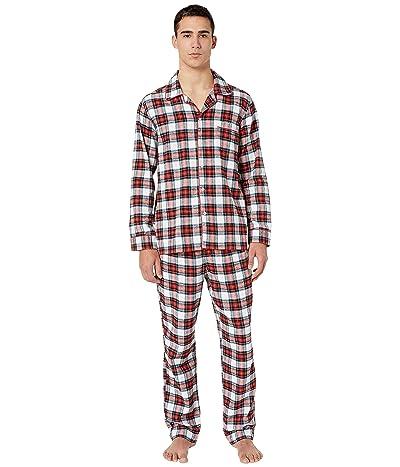 J.Crew Flannel Pajama Set in Snowy Stewart Tartan (Red/Navy Plaid) Men