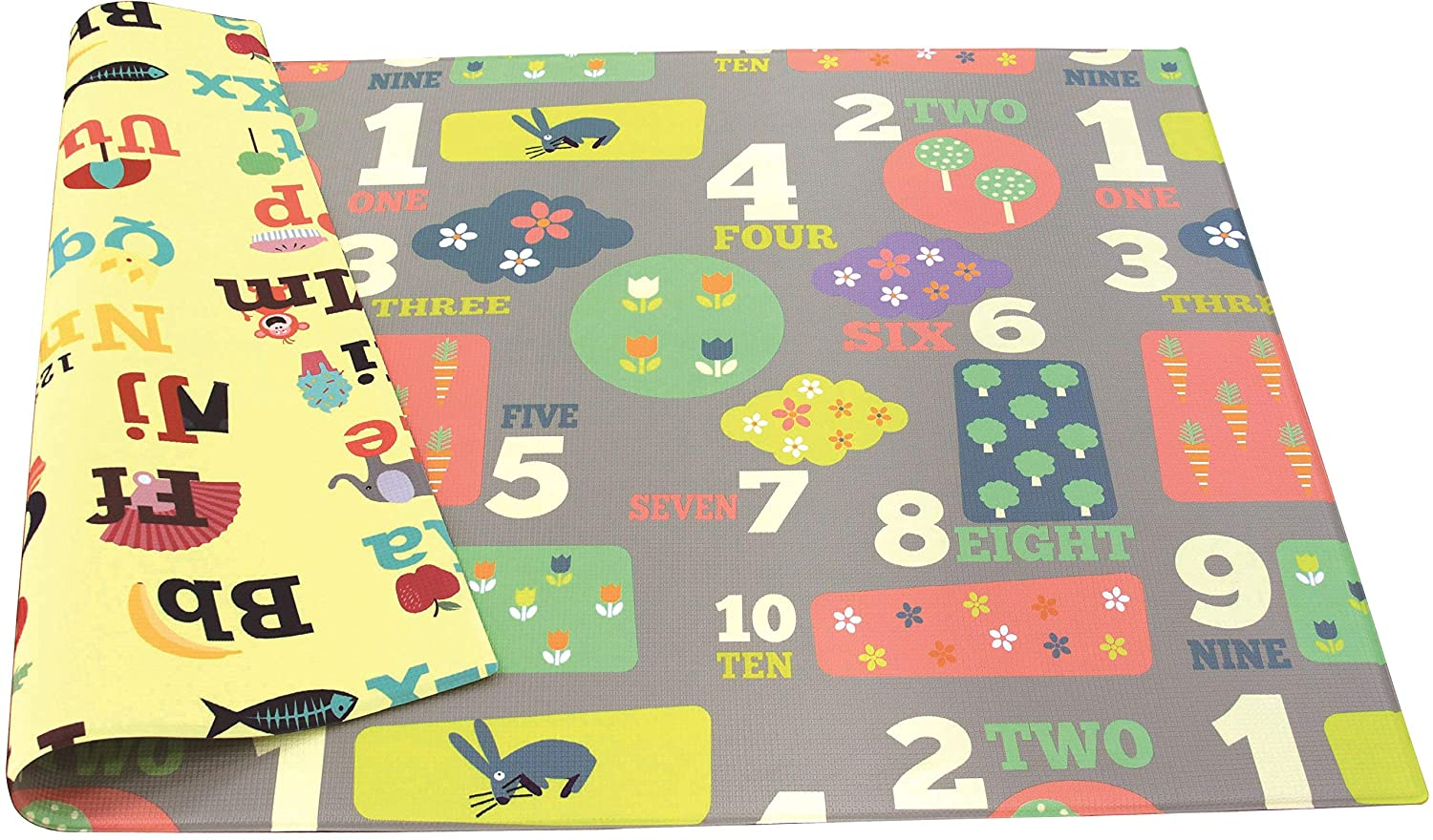 Baby Care Play Columbus Mall Mat - Letters Playful Larg Charlotte Mall Numbers Collection