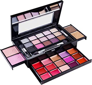 SHANY Fierce & Flawless All-in-One Makeup Set Compact with Mirror, 15 Eye Shadows, 2 Bronzers, 2 Blushes and 15 Lip/Eye Glosses - Applicators Included