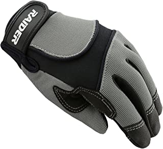 Raider Unisex-Child MX Gloves (Silver,  Youth Large)