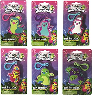 Hatchimals Light up Key Chain, Purple/Green with Pink Clip