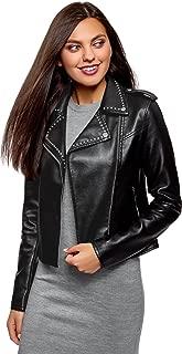 oodji Ultra Women's Faux Leather Biker Jacket