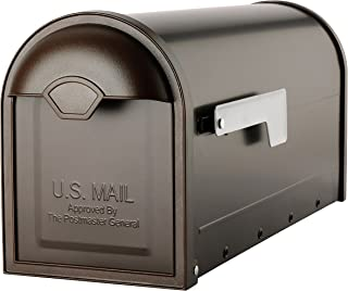 Architectural Mailboxes 8830RZ-10 Winston Post Mount Mailbox, Rubbed Bronze, Rubbed Bronze