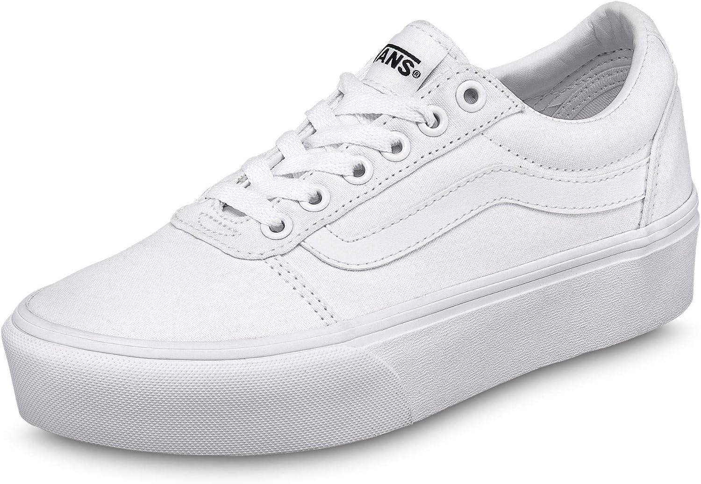Vans Women's Ward Platform Max 68% OFF Sneaker Canvas 0rg White 8.5 San Francisco Mall