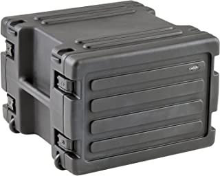 SKB 8U Space Rack with In-line Wheels, TSA Latches, and Handle, Black