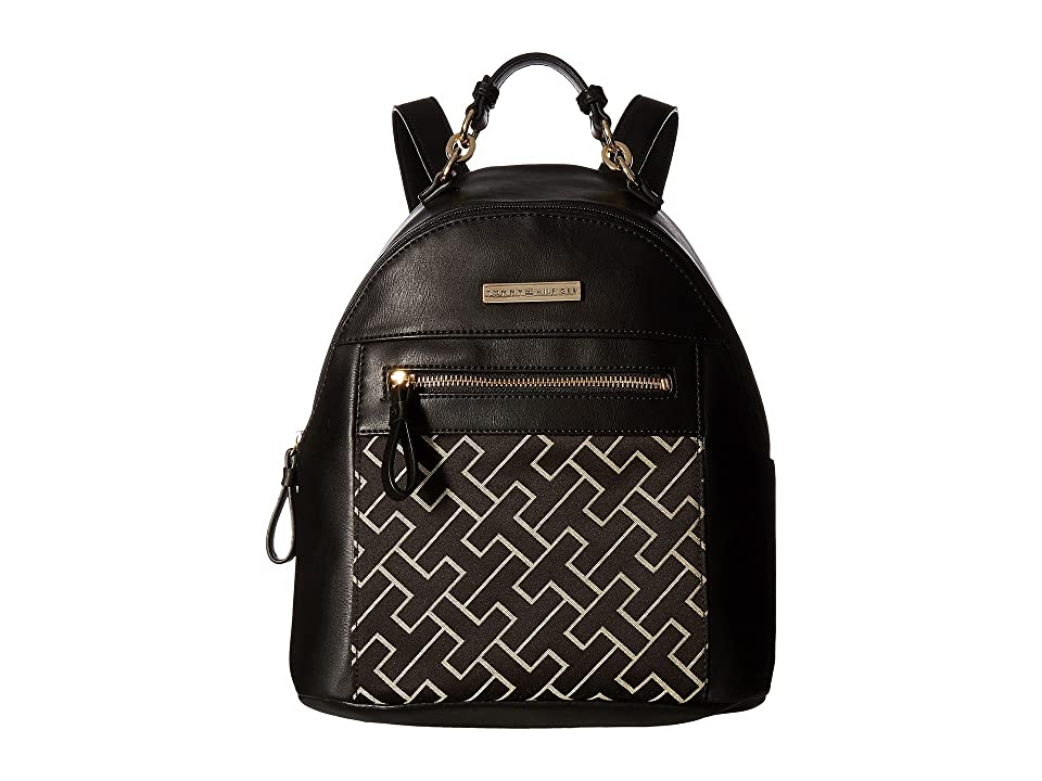 Tommy Hilfiger Claudia Dome Backpack (Black Alpaca) Backpack Bags