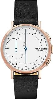 Skagen Men's Digital Watch smart Display and Leather Strap, SKT1112