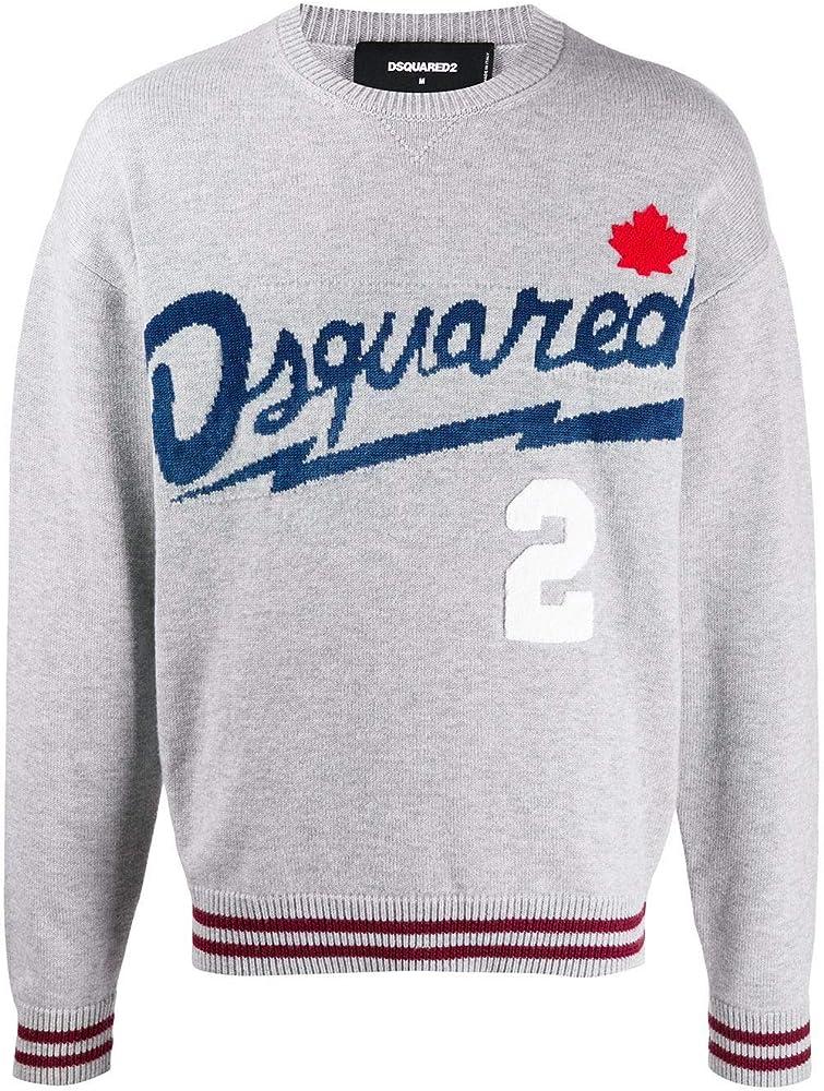 Dsquared2 luxury fashion uomo,maglione,felpa ,90% lana, 10% cotone S74HA1085S17388961