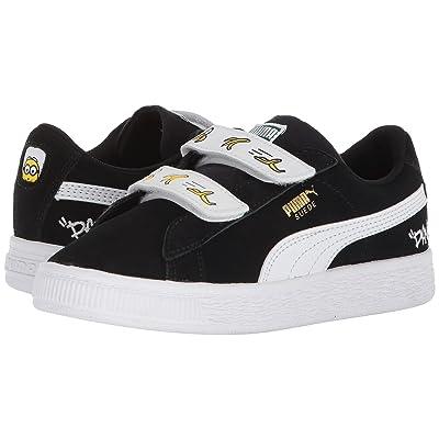 Puma Kids Minions Suede V (Little Kid) (Puma Black/Puma White) Kids Shoes
