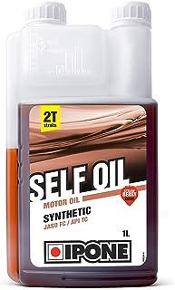 IPONE 800352 Huile Moteur Self Oil – Semi-Synthétique-pour Tous 2 Temps pour engins de Jardinage – Bidon Doseur 1 Litre – ...