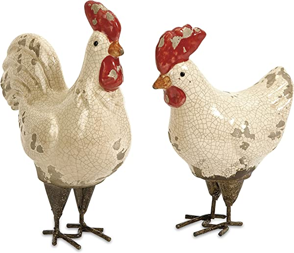 IMAX 50297 2 Quinn Roosters Set Of 2