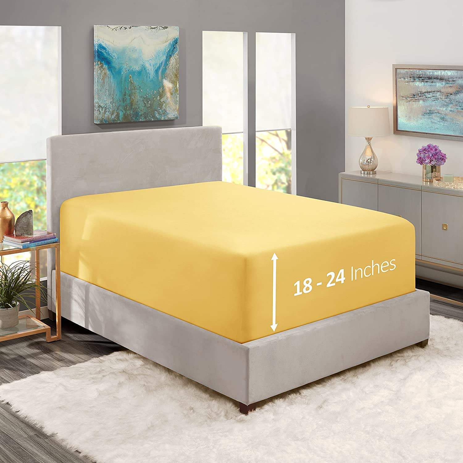 Nestl Fitted Sheets Queen Size National Be super welcome uniform free shipping Fi – 1800 Premium Microfiber