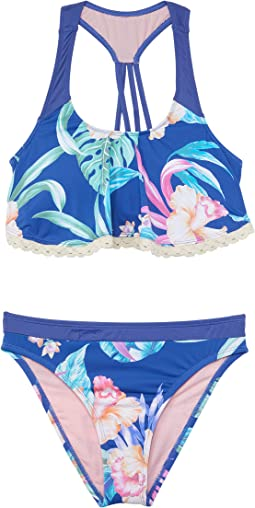 Island Floral Flounce Bralette and Hipster (Big Kid)