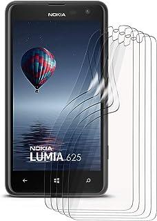 moex kristallklar HD skyddsfilm kompatibel med Nokia Lumia 625 | displayskyddsfilm reptålig nästan osynlig, ultraklar 5 x ...