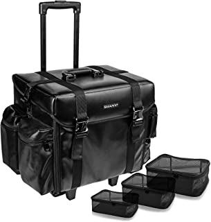 SHANY Makeup Artist Soft Rolling Trolley Cosmetic Case with Free Set of Mesh Bags - Head Turner