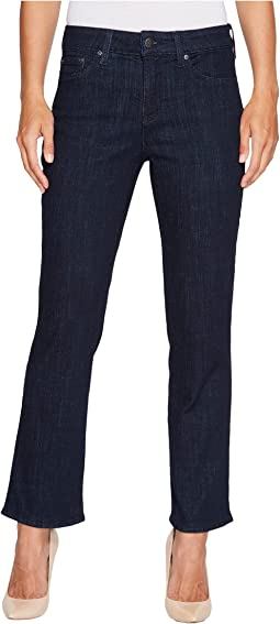 NYDJ Marilyn Straight Ankle Jeans in Crosshatch Denim in Rambard