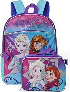 Frozen Backpack with Lunchbox - violet, one size