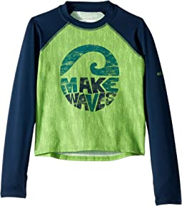 Cyber Green/Wave Length Texture/Collegiate Navy