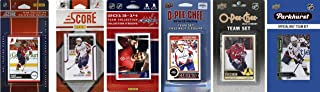 C&I 收藏品 NHL Washington Capitals 男式 6 种不同的*收藏卡队套装,白色